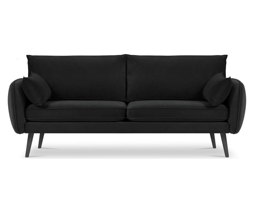 Canapea 4 locuri Lento Velvet Black