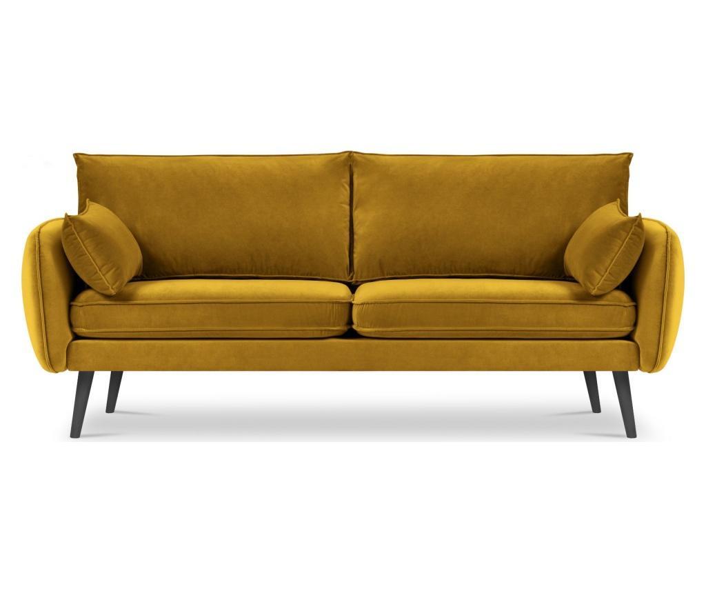 Canapea 4 locuri Lento Velvet Yellow