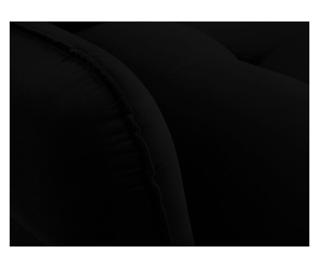 Разтегателно  триместно канапе Maestro Velvet Black