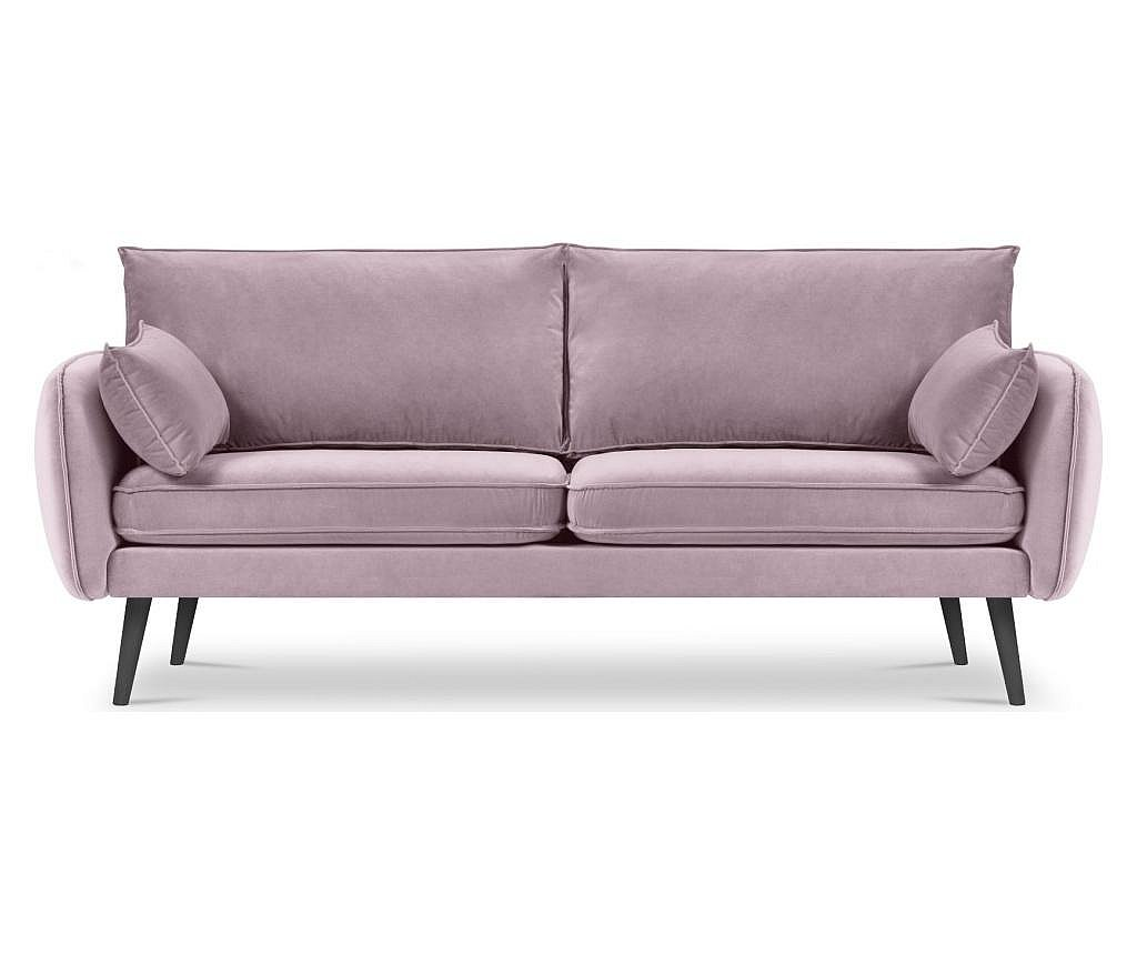 Canapea 4 locuri Lento Velvet Light Pink
