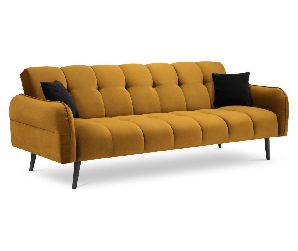 Rozkładana kanapa 3-osobowa Maestro Velvet Yellow