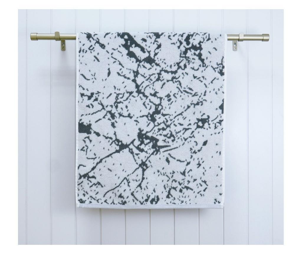 Set 2 prosoape de baie Marble Grey 48x90 cm