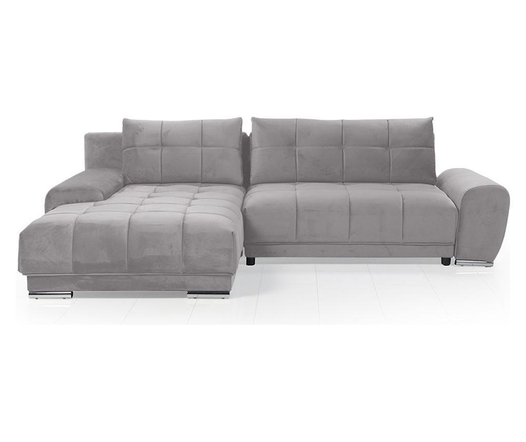 Разтегателен ляв ъглов диван Choco Grey