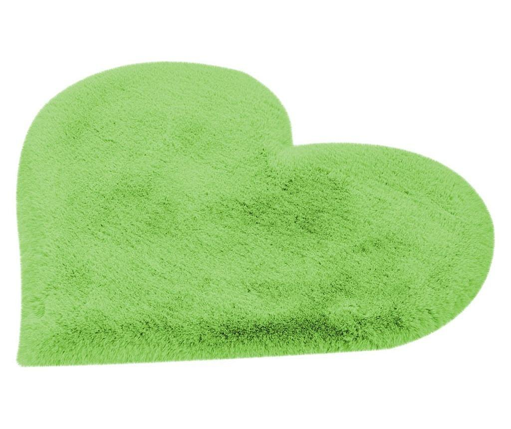 Tepih Fluffy Kids Heart Green 60x70 cm