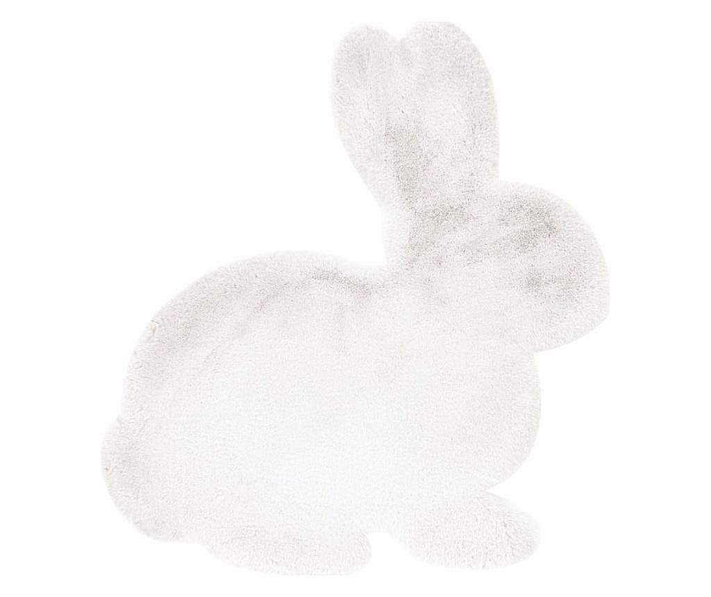 Tepih Fluffy Kids Rabbit White 80x90 cm