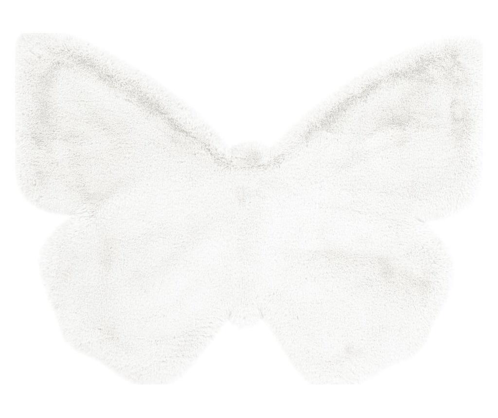 Tepih Fluffy Kids Butterfly White 70x90 cm