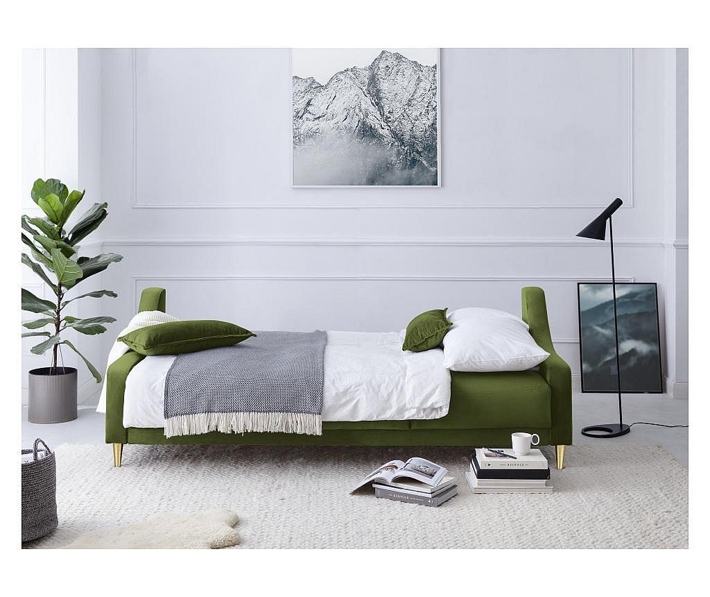 Canapea extensibila cu 3 locuri Freesia Green