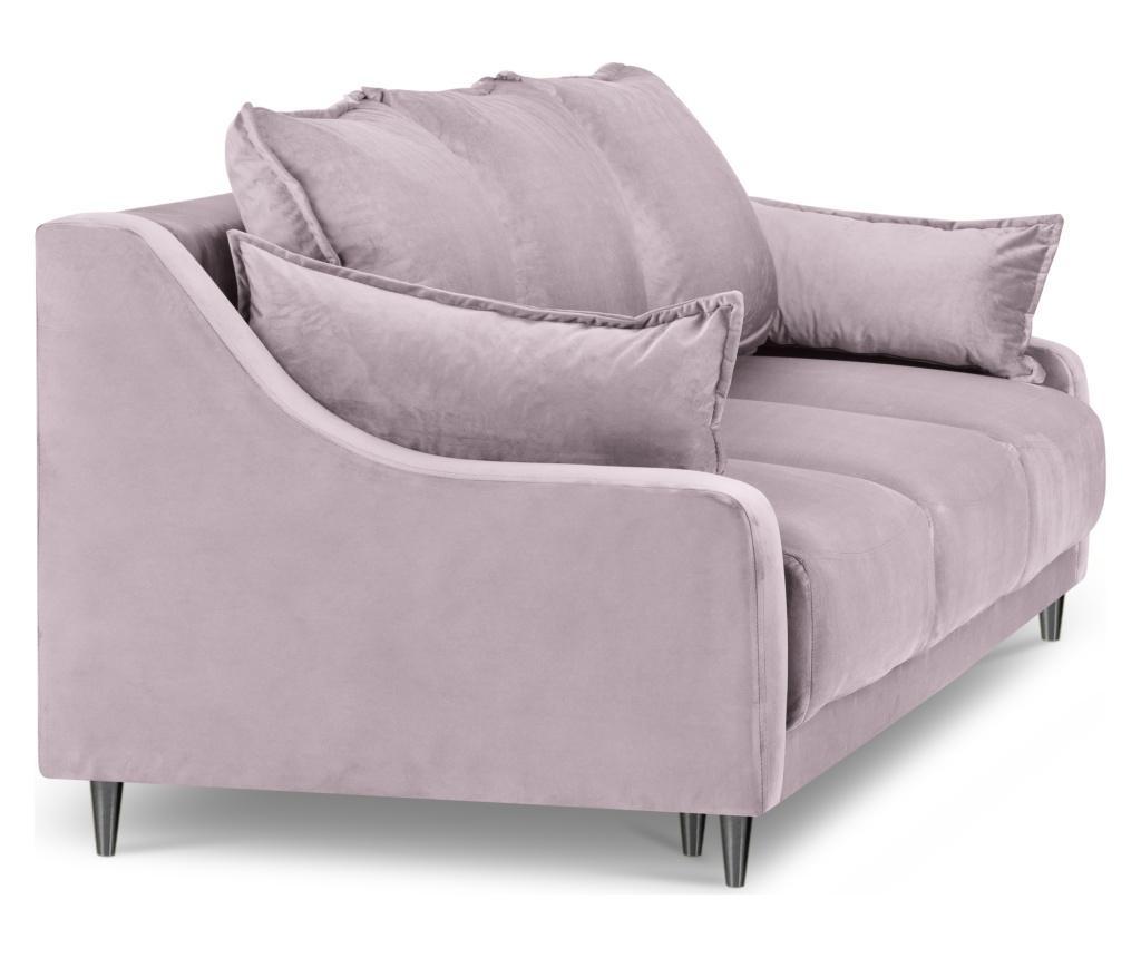 Canapea extensibila cu 3 locuri Lilas Pink