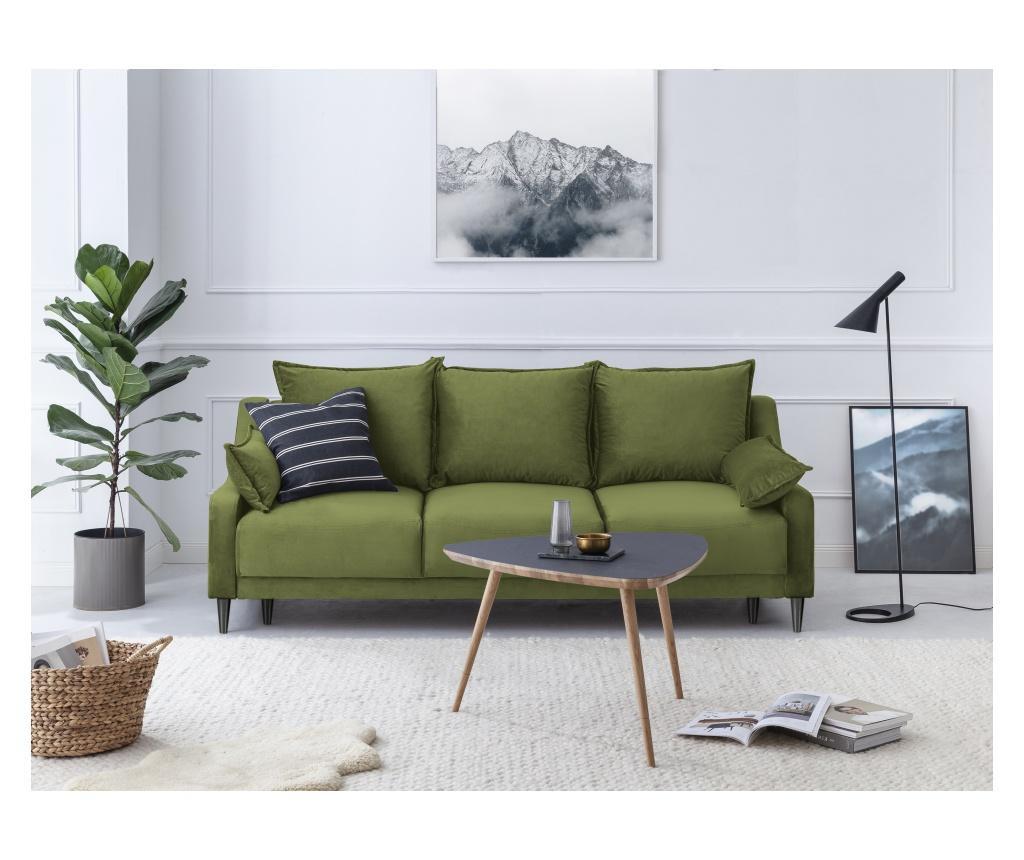 Rozkładana kanapa 3-osobowa Lilas Green