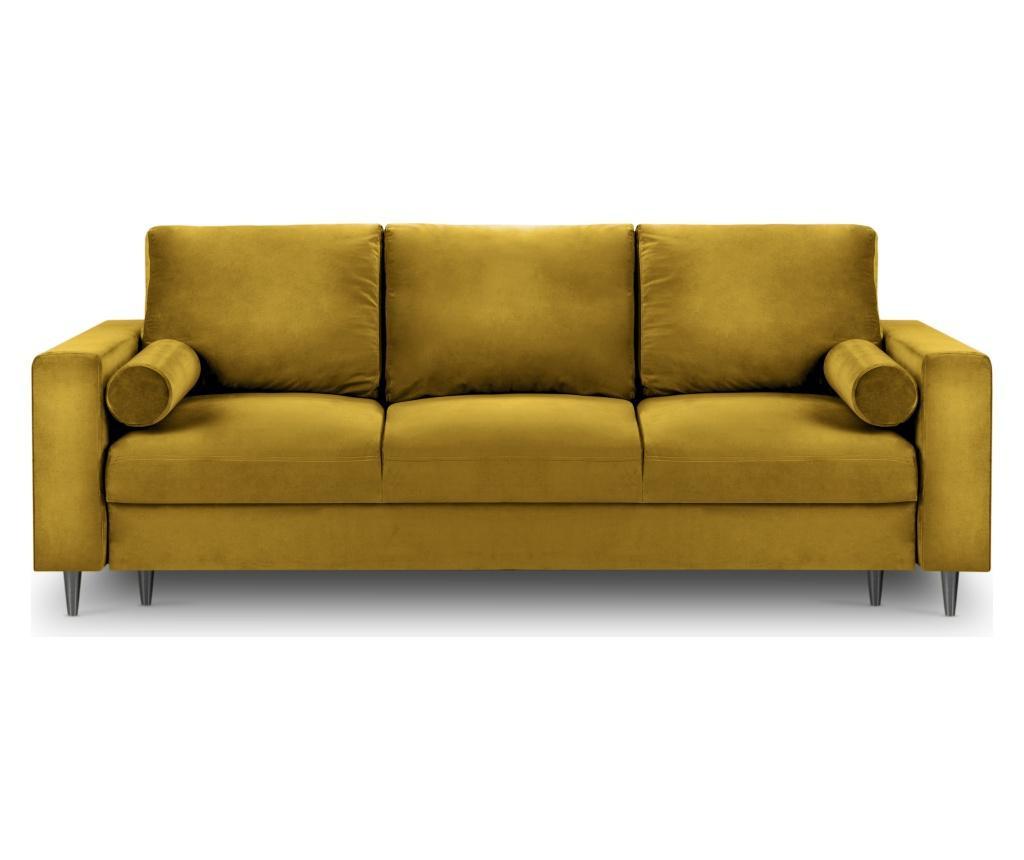 Rozkładana kanapa 3-osobowa Camellia Yellow