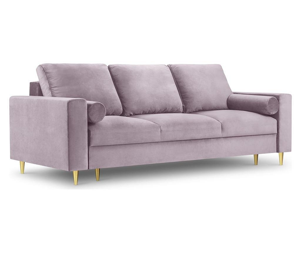 Mimosa Pink Kihúzható háromszemélyes kanapé