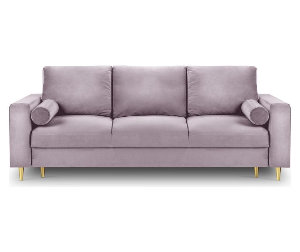Canapea extensibila cu 3 locuri Mimosa Pink