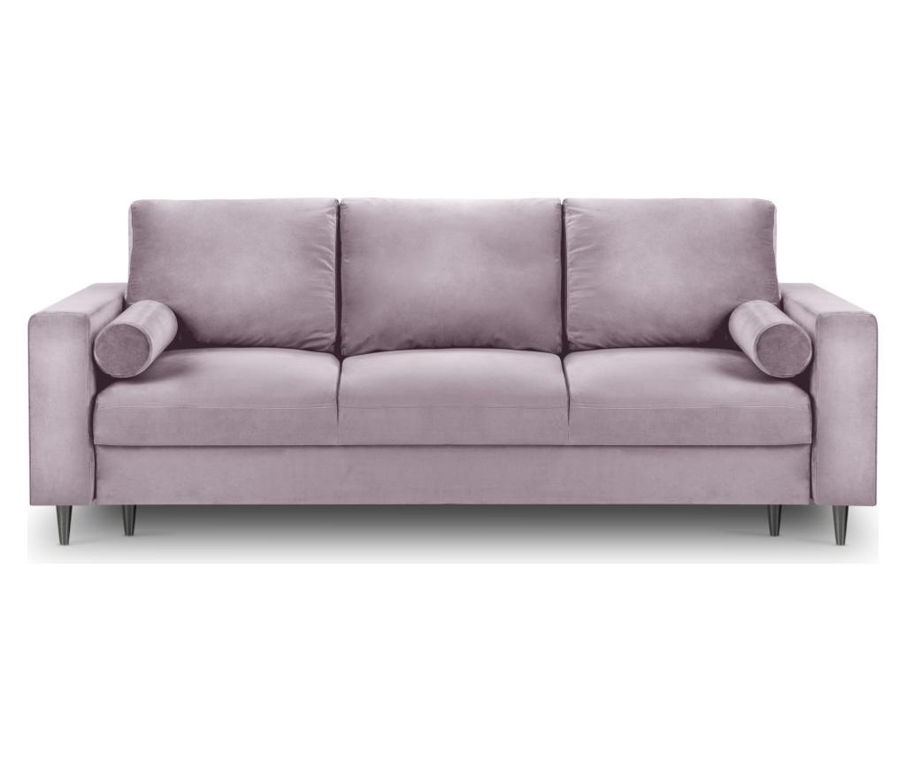 Camellia Pink Kihúzható háromszemélyes kanapé