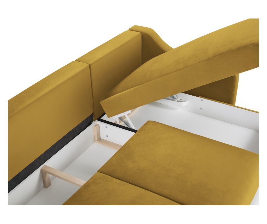 Pansy Yellow Megfordítható és kihúzható sarokkanapé