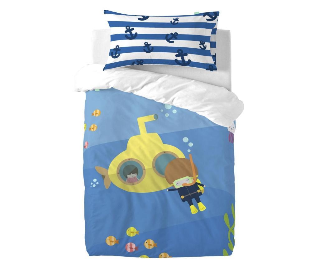 Posteljina za krevetić Yellow Submarine Uni