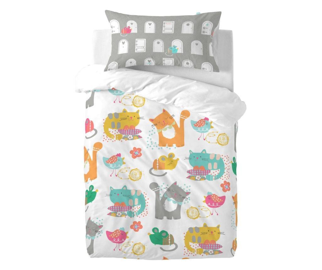 Posteljina za krevetić Cat and Mouse Uni