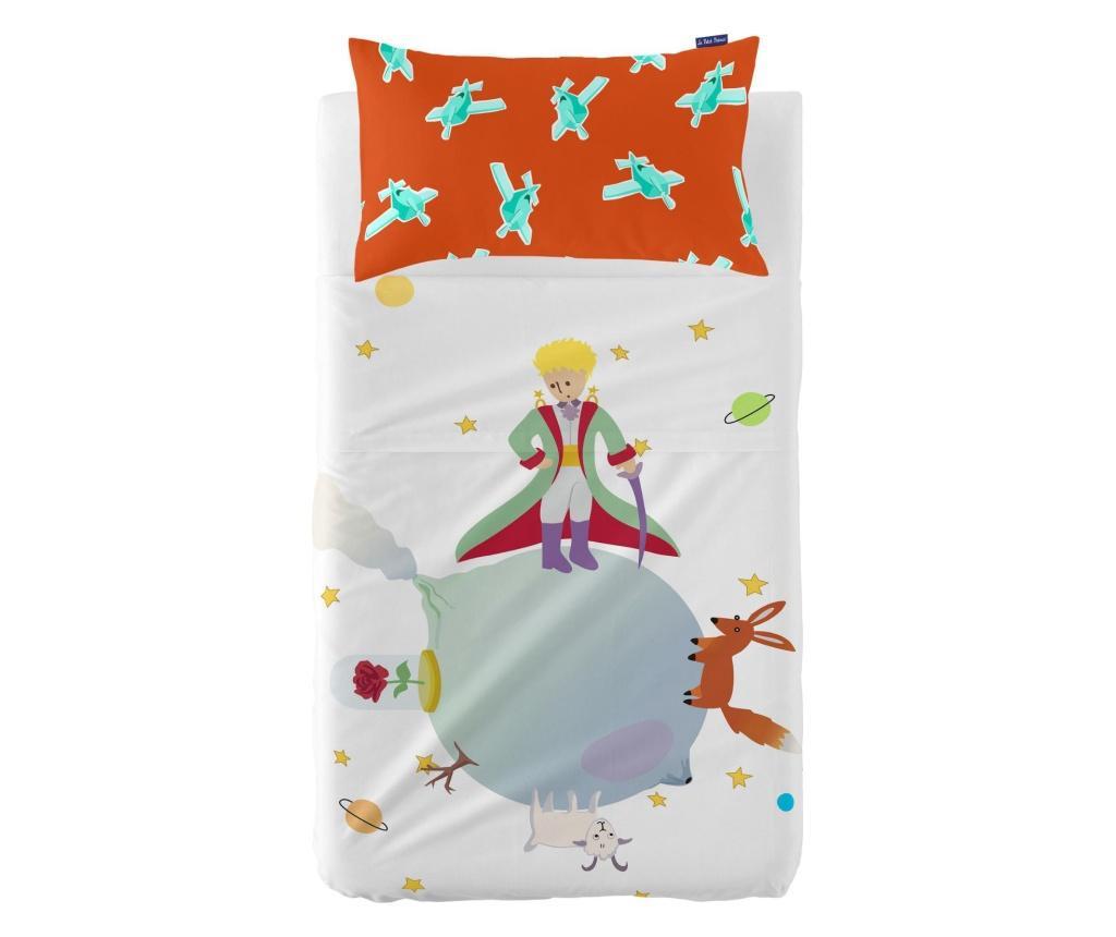 Set cearsaf de patut si fata de perna Little Prince Extra Uni