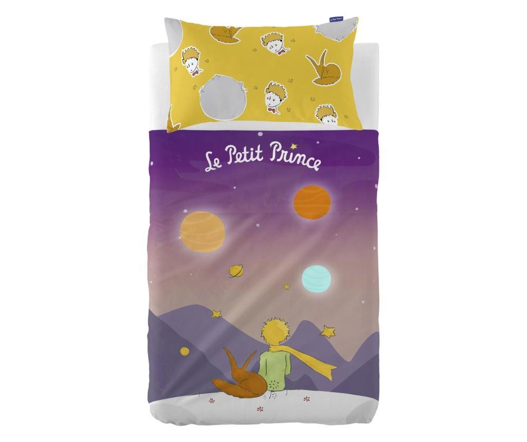 Set cearsaf de pat si fata de perna Les Planetes