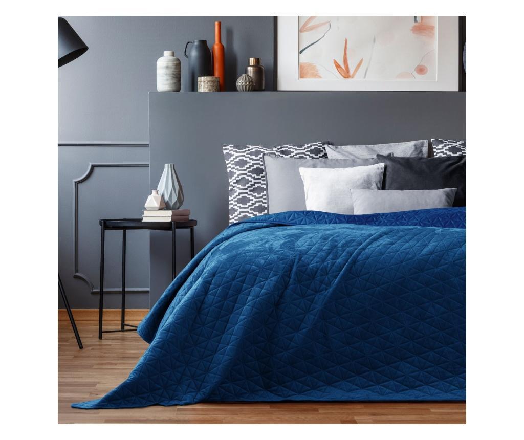 Prošiveni prekrivač Laila Royal Blue 200x220 cm