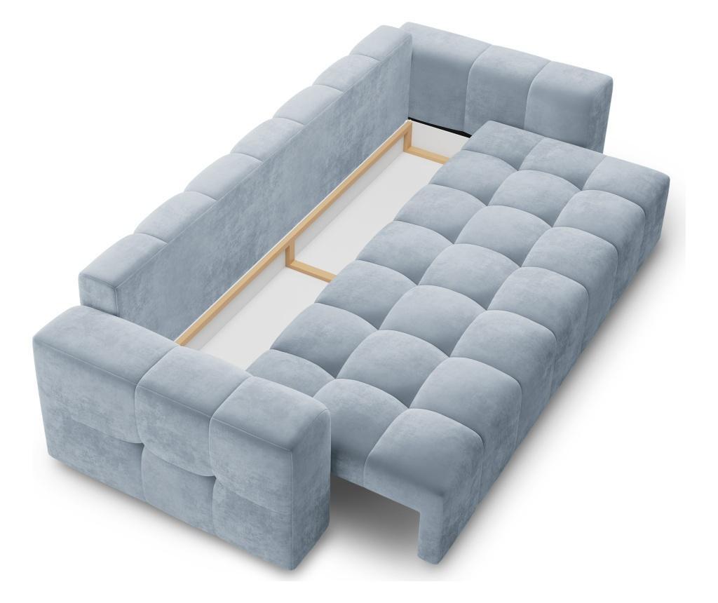 Luca Light Blue Háromszemélyes kanapé