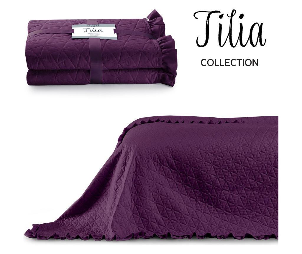 Prošiveni prekrivač Tilia Plum 260x280 cm