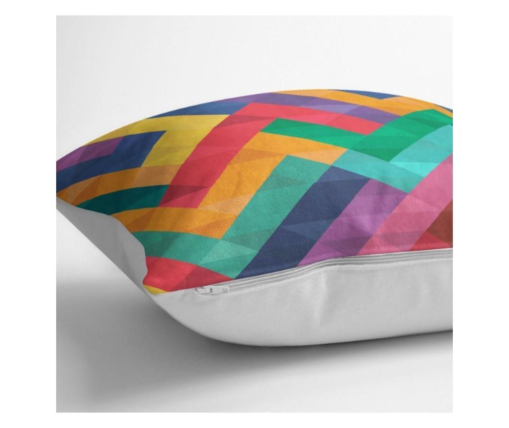 Fata de perna Minimalist Cushion Covers Colorful Geometric Desen 45x45 cm