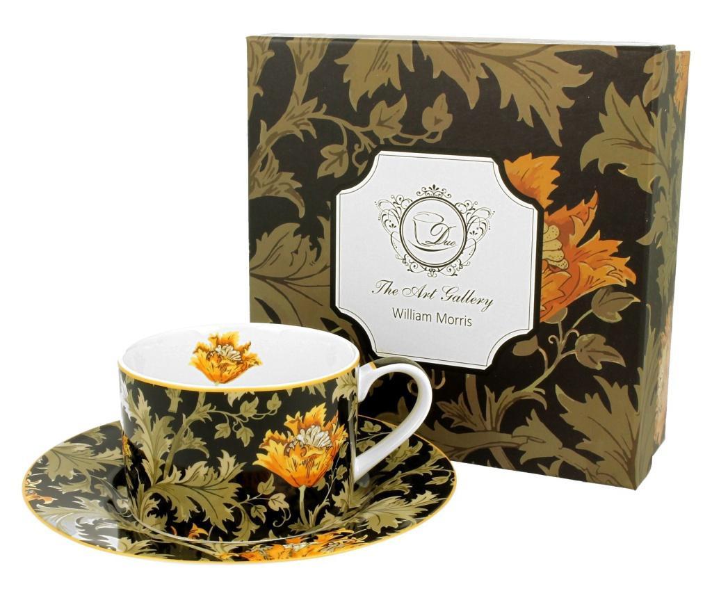 Set ceasca si farfurioara Chrysanthemum 250 ml