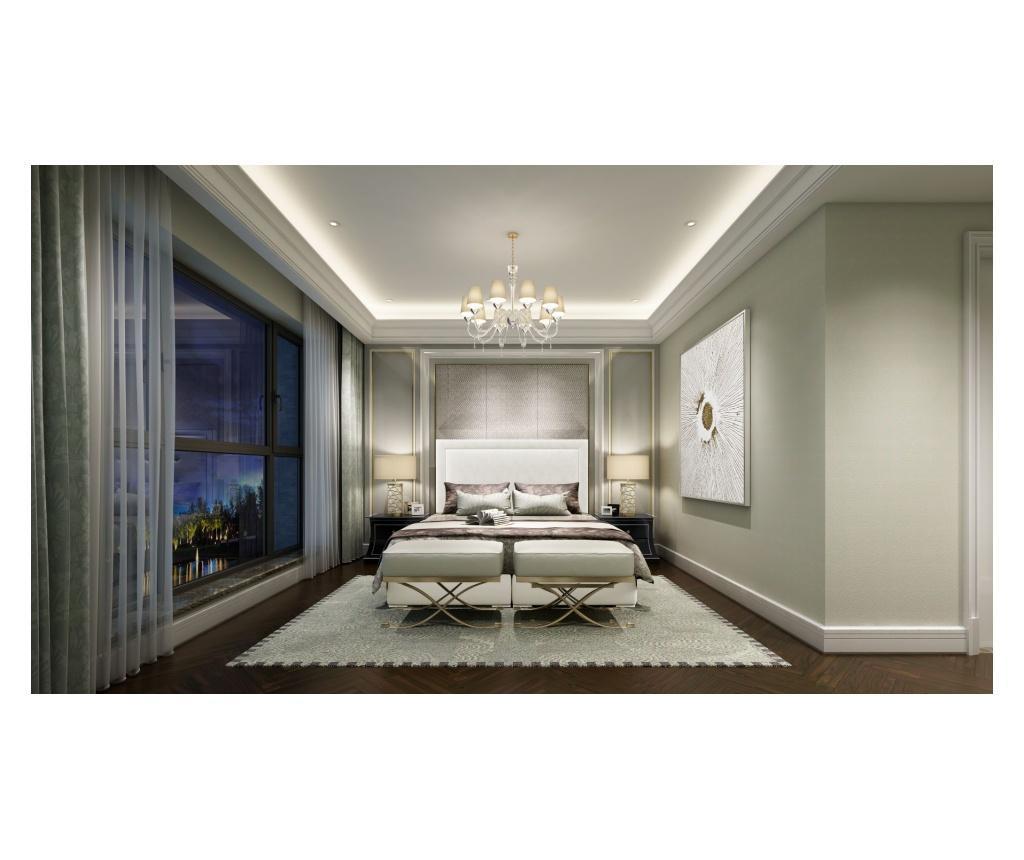 Tribeca White Boxspring ágy tárolóhellyel és védőmatraccal 180x200 cm