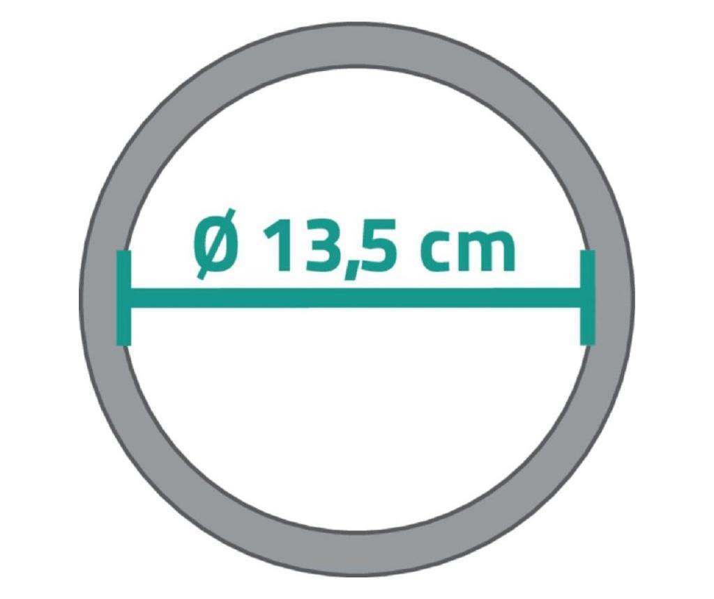 Oglinda cosmetica  Ridder transparenta, de masa,  diametru 13.5cm, 2 fete, una cu marire de pana la 3 ori  Kida