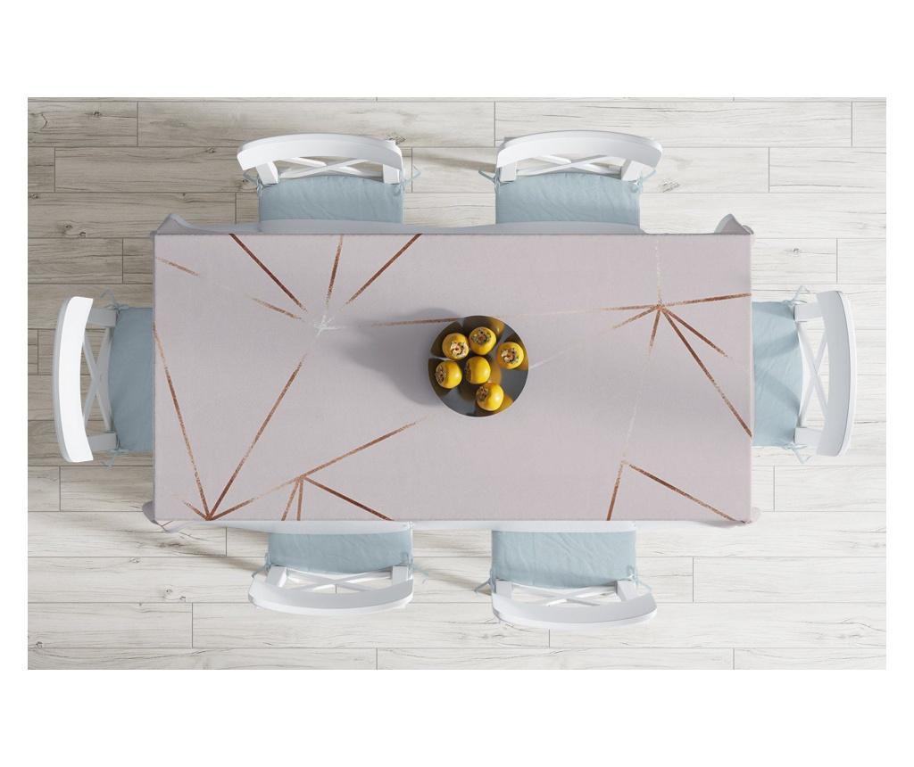 Stolnjak Minimalist Tablecloths Modern Gold Touches Design 120x140 cm