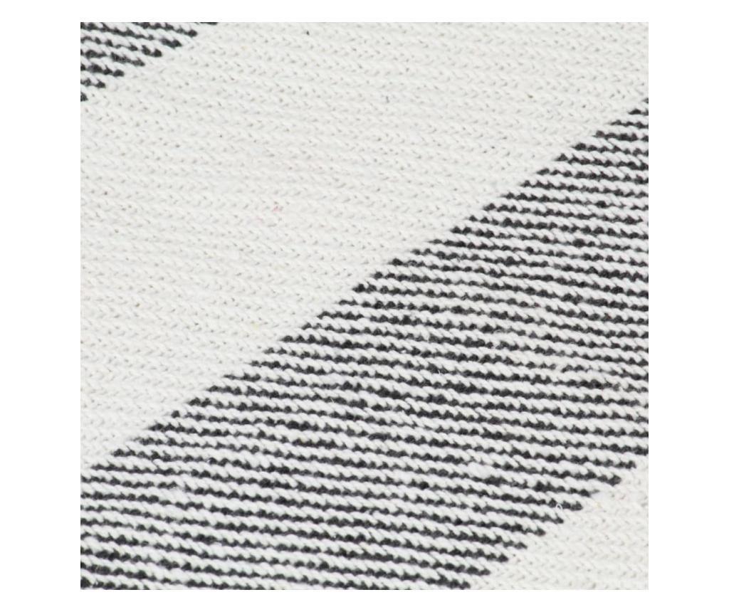 Přehoz bavlna pruhovaný 220 x 250 cm antracitový