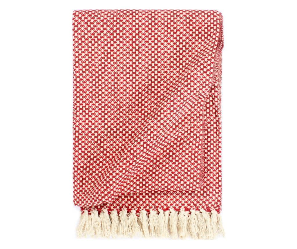 Přehoz bavlna 220 x 250 cm červený
