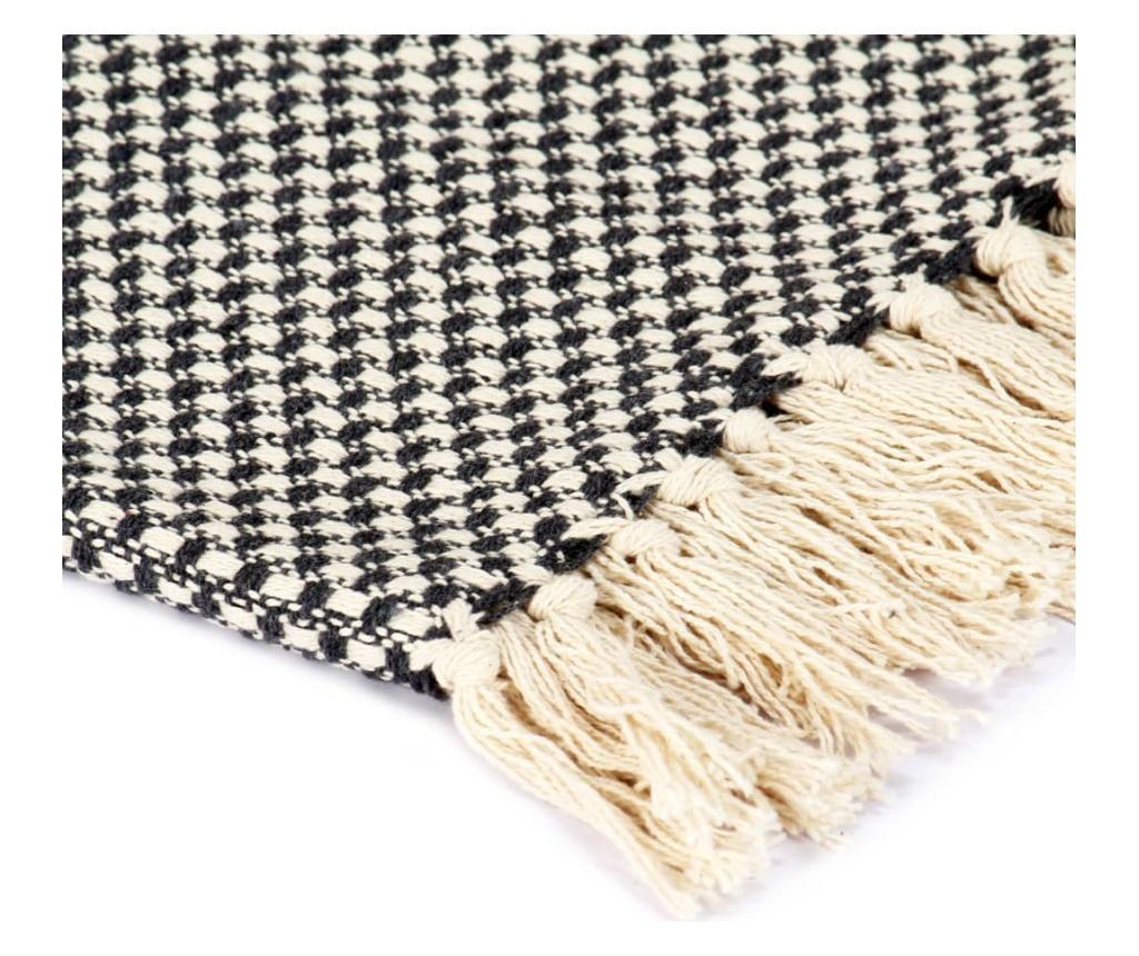 Přehoz bavlna 125 x 150 cm antracitový