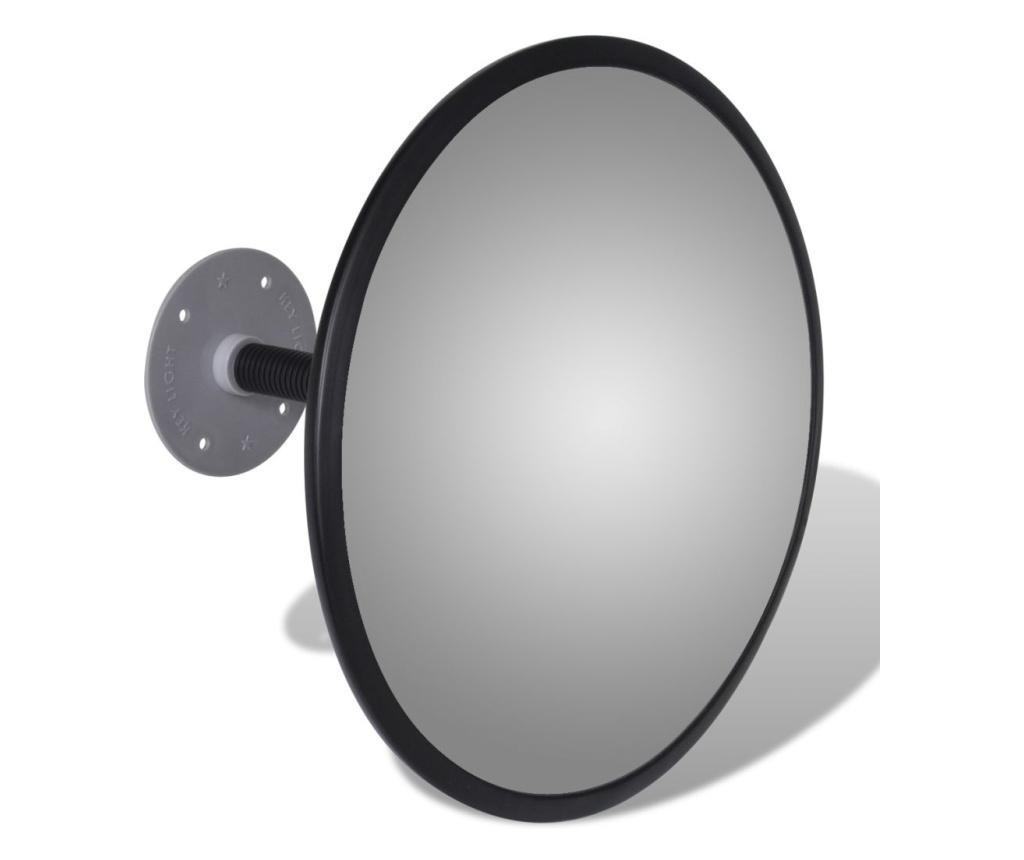Oglinda rutiera acrilica convexa de interior 30 cm negru