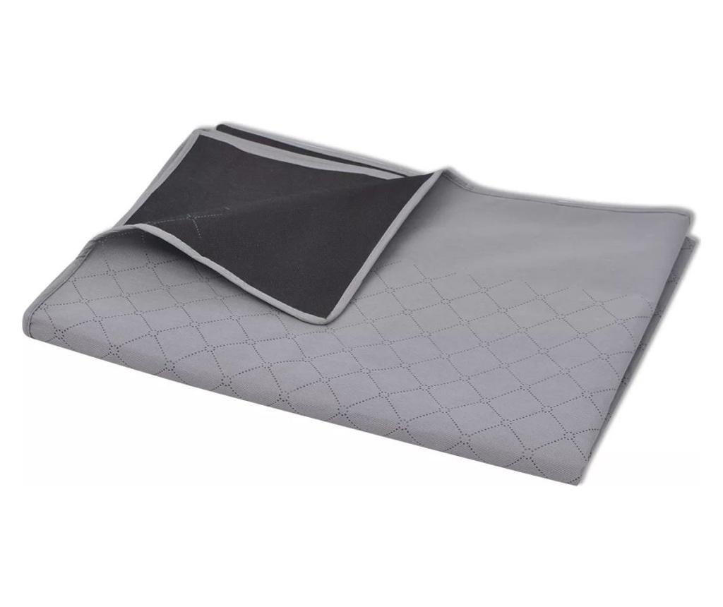 Patura pentru picnic, gri si negru, 100 x 150 cm