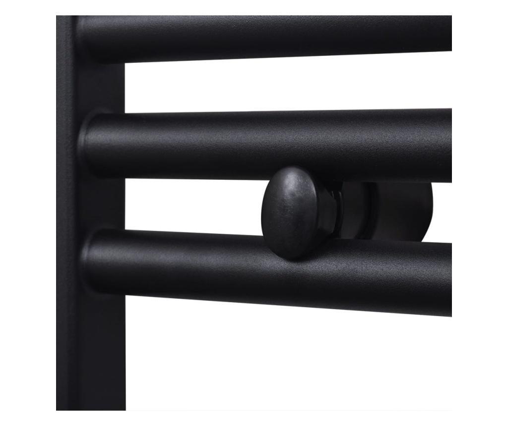 Kupaonski radijator za centralno grijanje crni zaobljeni 600 x 1424 mm