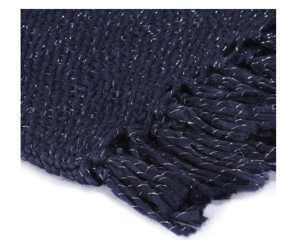 Přehoz lurex 220 x 250 cm námořnická modrá