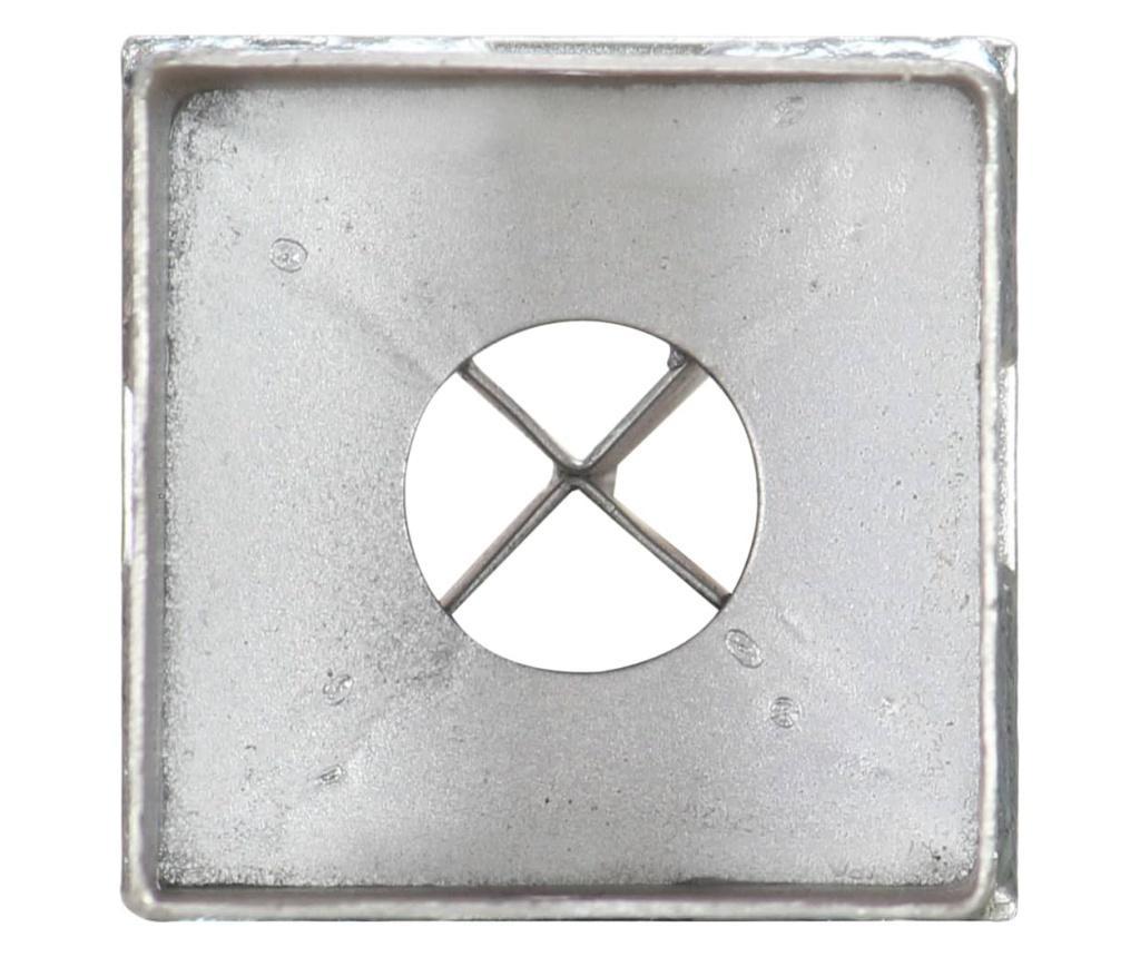 Kotvící hroty 6 ks stříbrné 8 x 8 x 76 cm pozinkovaná ocel