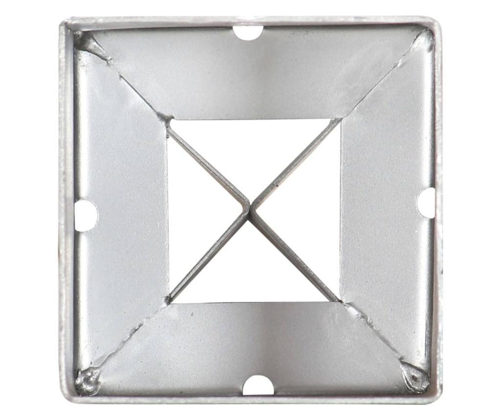 Kotvící hroty 2 ks stříbrné 9 x 9 x 75 cm pozinkovaná ocel