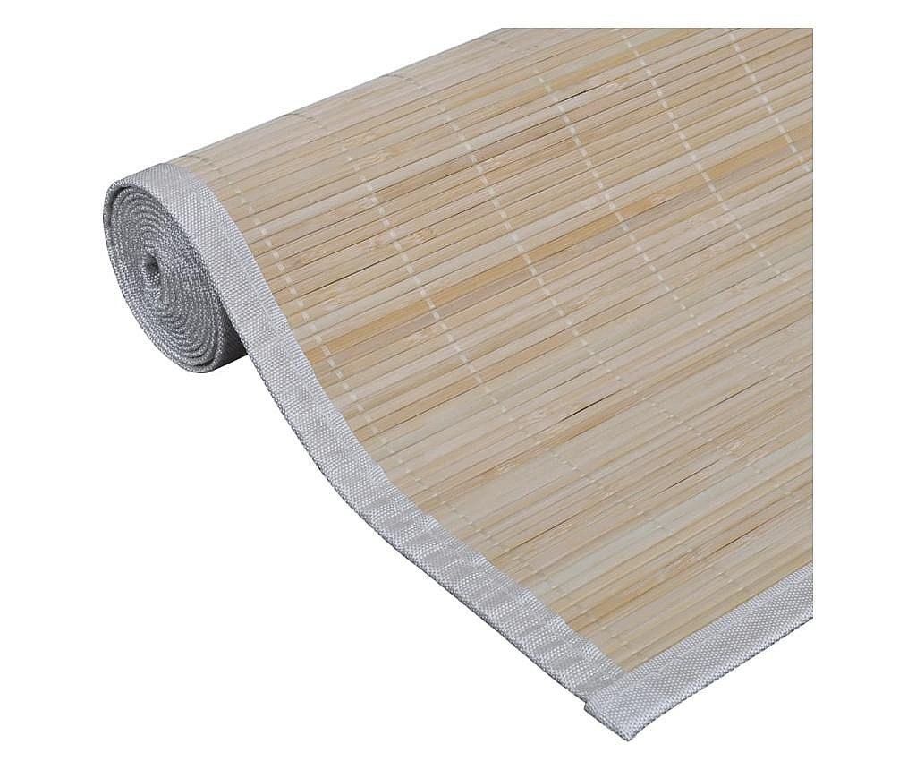 Naturalny, prostokątny dywan bambusowy, 80 x 200 cm