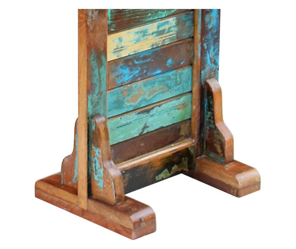 Oglinda pentru hol, lemn reciclat solid, 47 x 23 x 180 cm