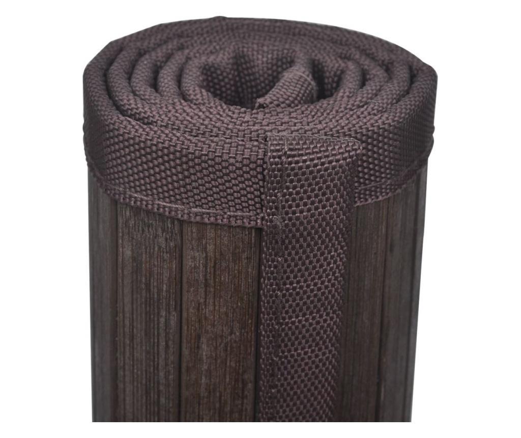 Prostirka za Kupaonicu Bambus 60 x 90 cm Tamno Smeđa