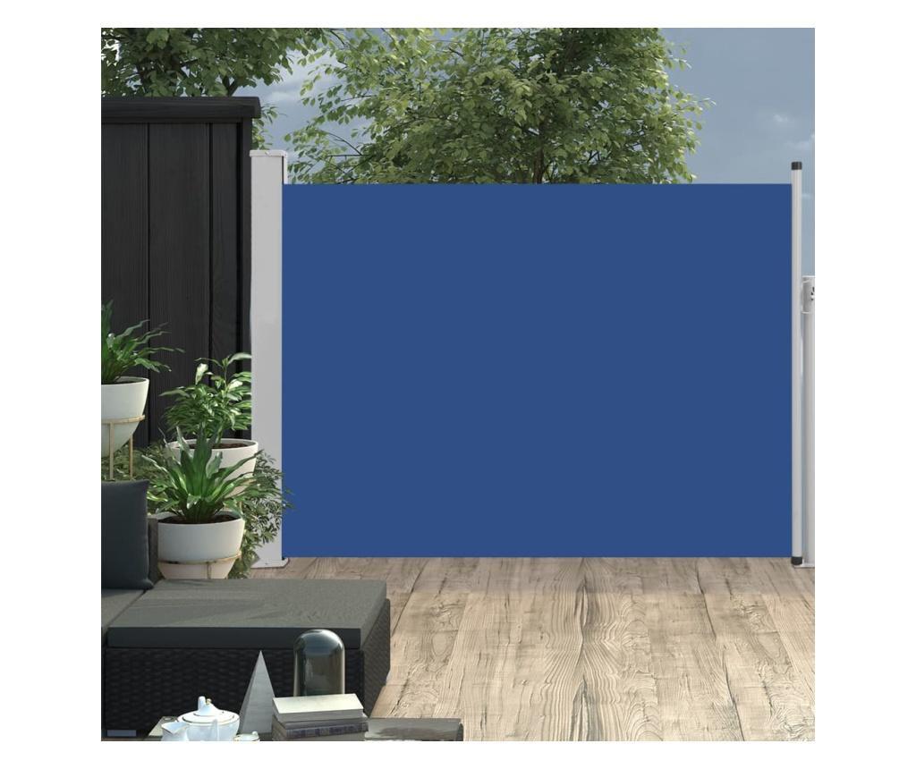 Прибираща се странична тента, 120x500 см, синя