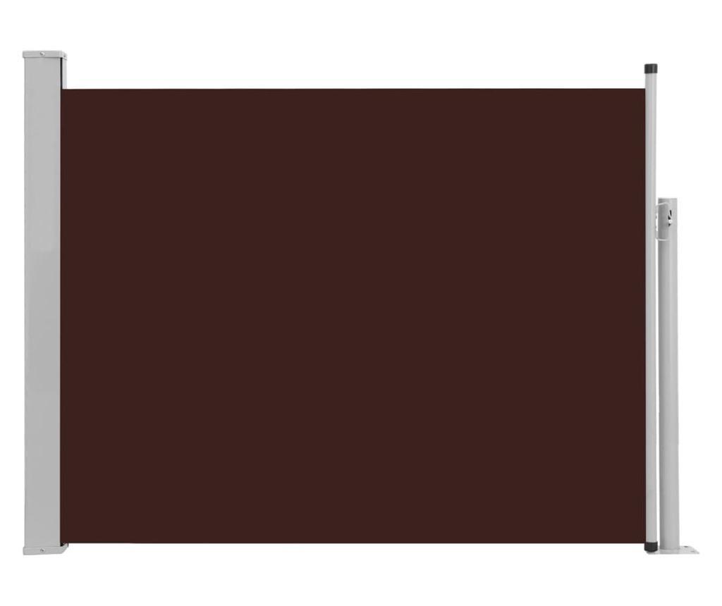 Прибираща се странична тента, 140x500 см, кафява