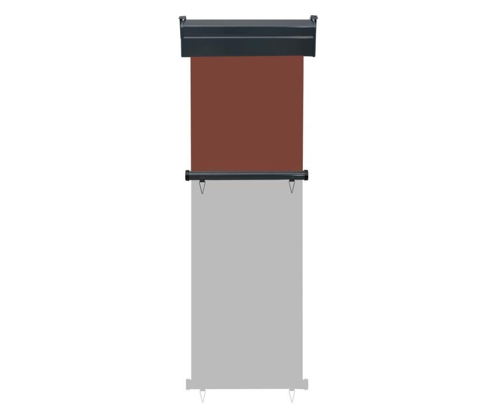 Вертикална тента за балкон, 60x250 см, кафява