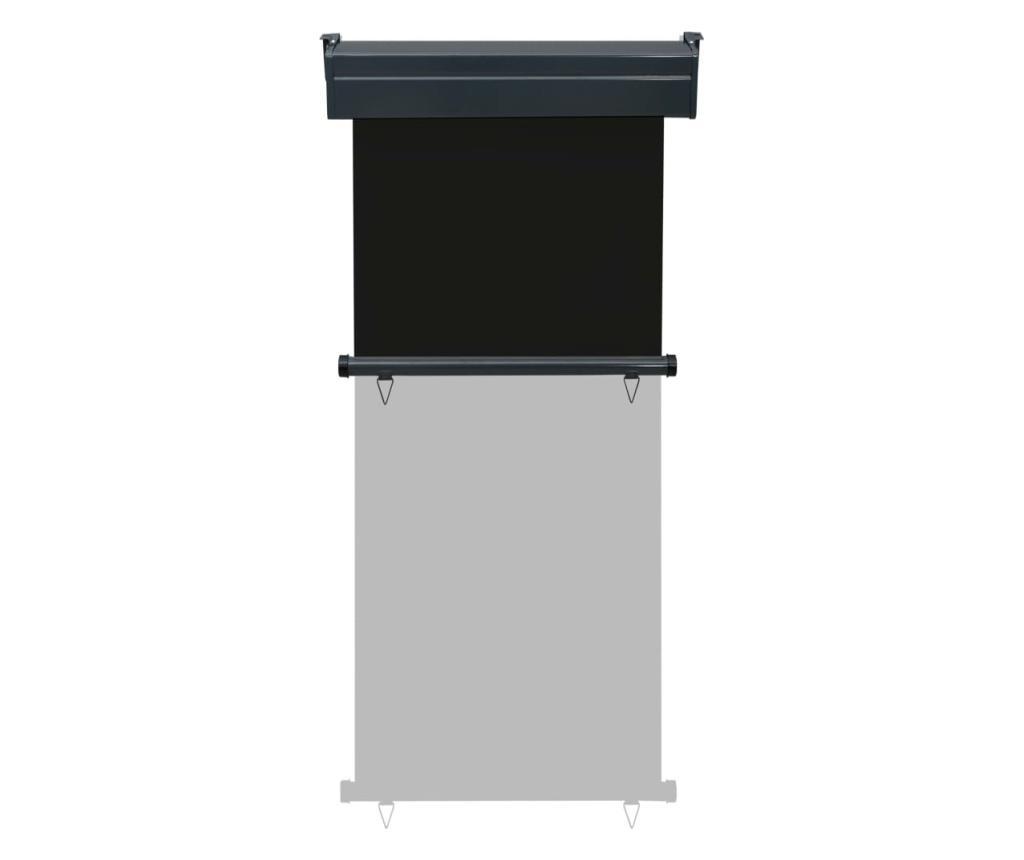 Вертикална тента за балкон, 80x250 см, черна
