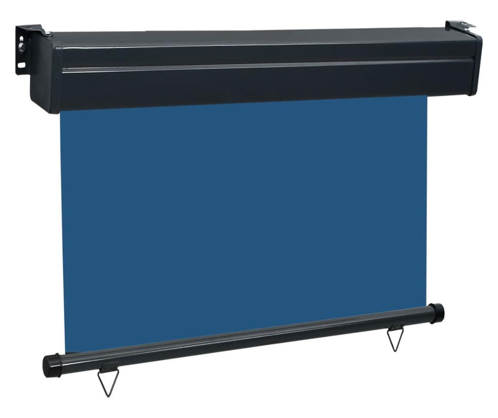 Вертикална тента за балкон, 100x250 см, синя
