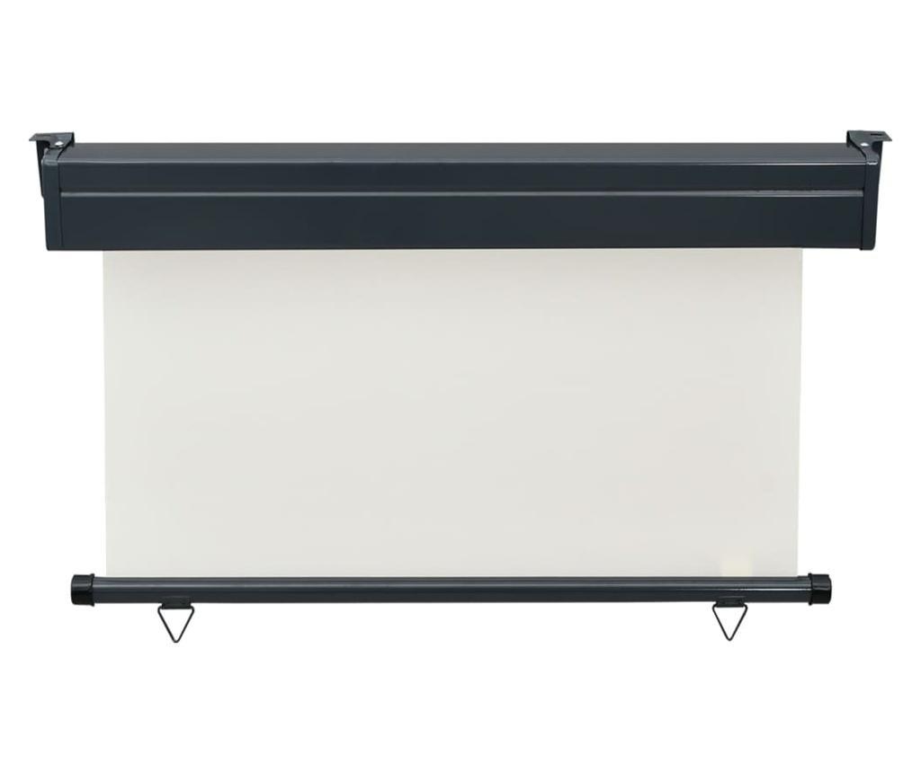 Вертикална тента за балкон, 120x250 см, кремава