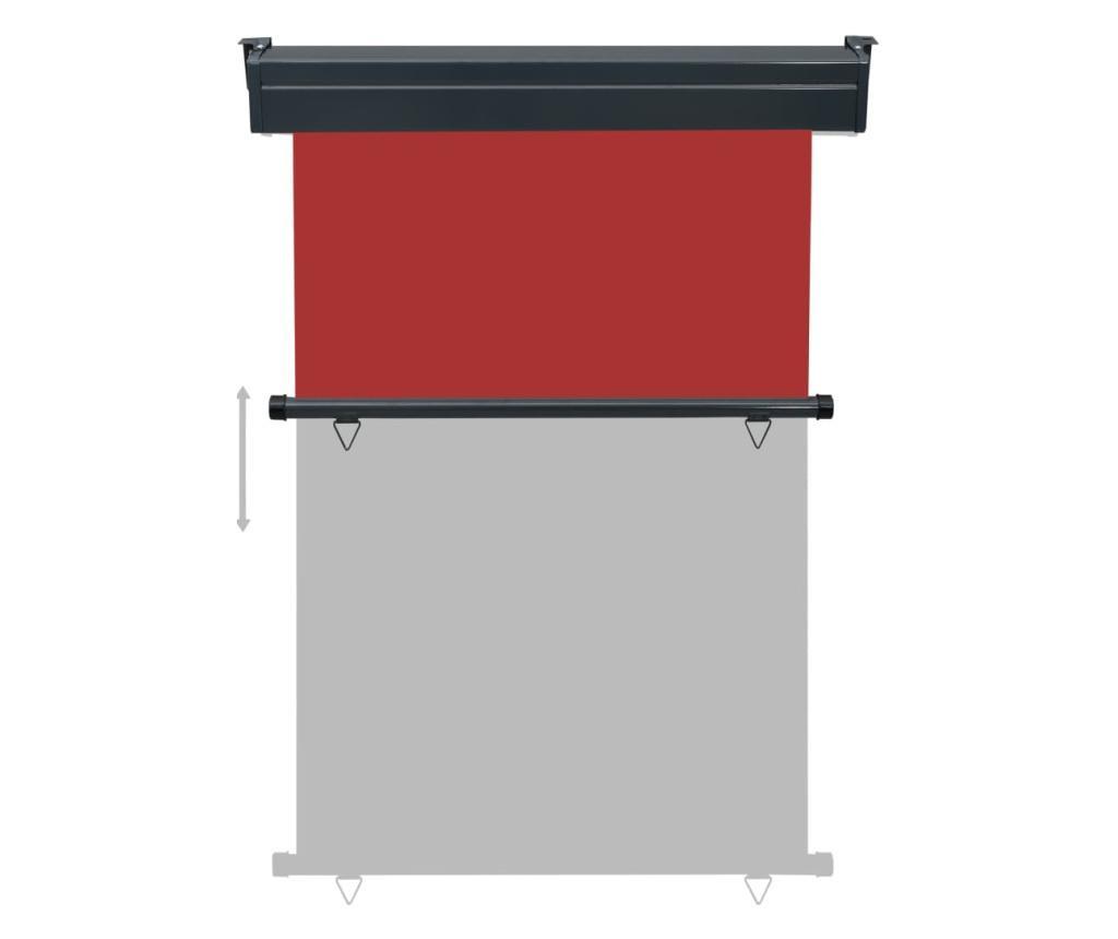 Вертикална тента за балкон, 120x250 см, червена