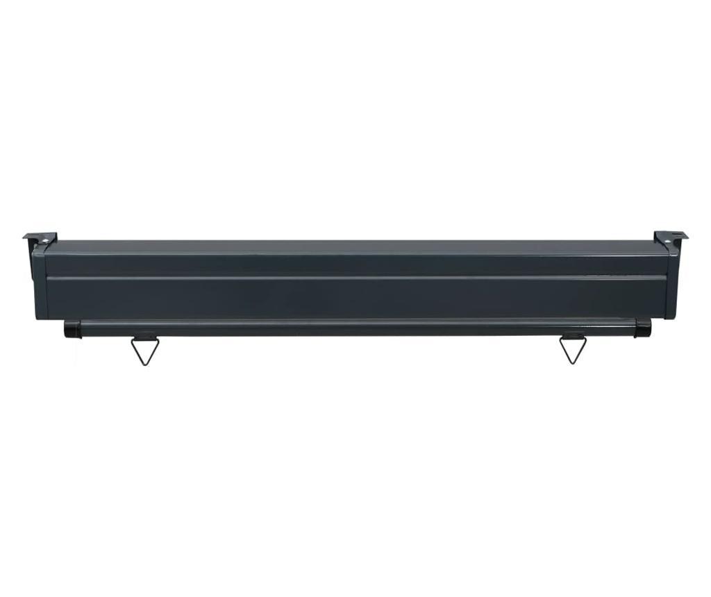 Вертикална тента за балкон, 120x250 см, кафява